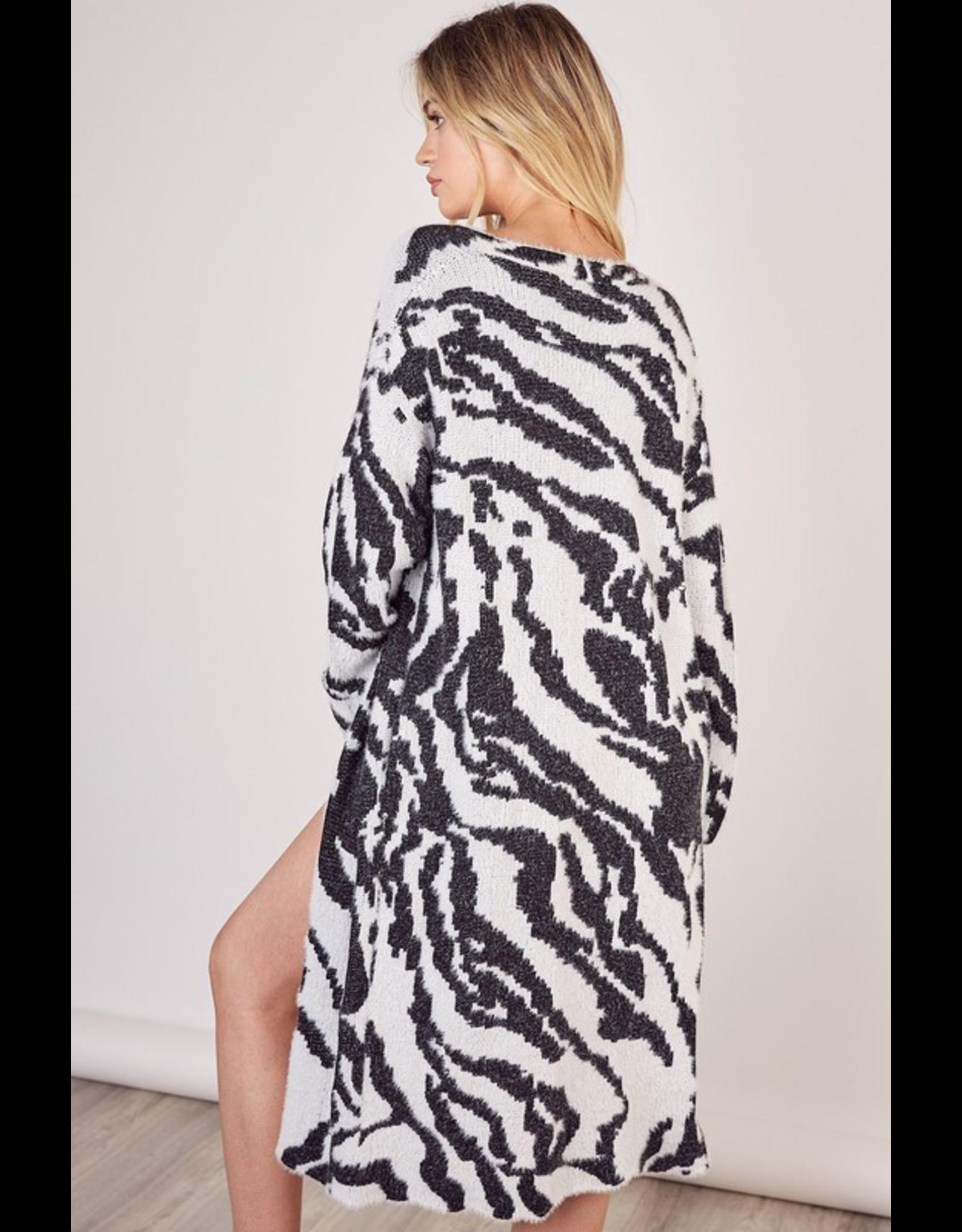 flight lux mustard seed zebra soft cardigan