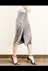 flight lux sequin midi skirt