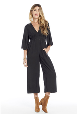 saylor saltwater luxe short sleeve waisted jumpsuit