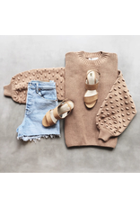 flight lux popcorn sleeve sweater