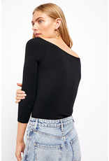 free people free people square neck 3/4 sleeve top