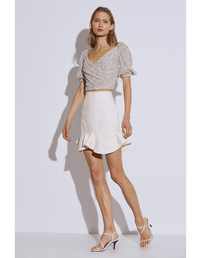 cameo c/meo lustre short sleeve top