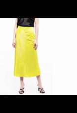 j.o.a. j.o.a woven bias cut midi skirt
