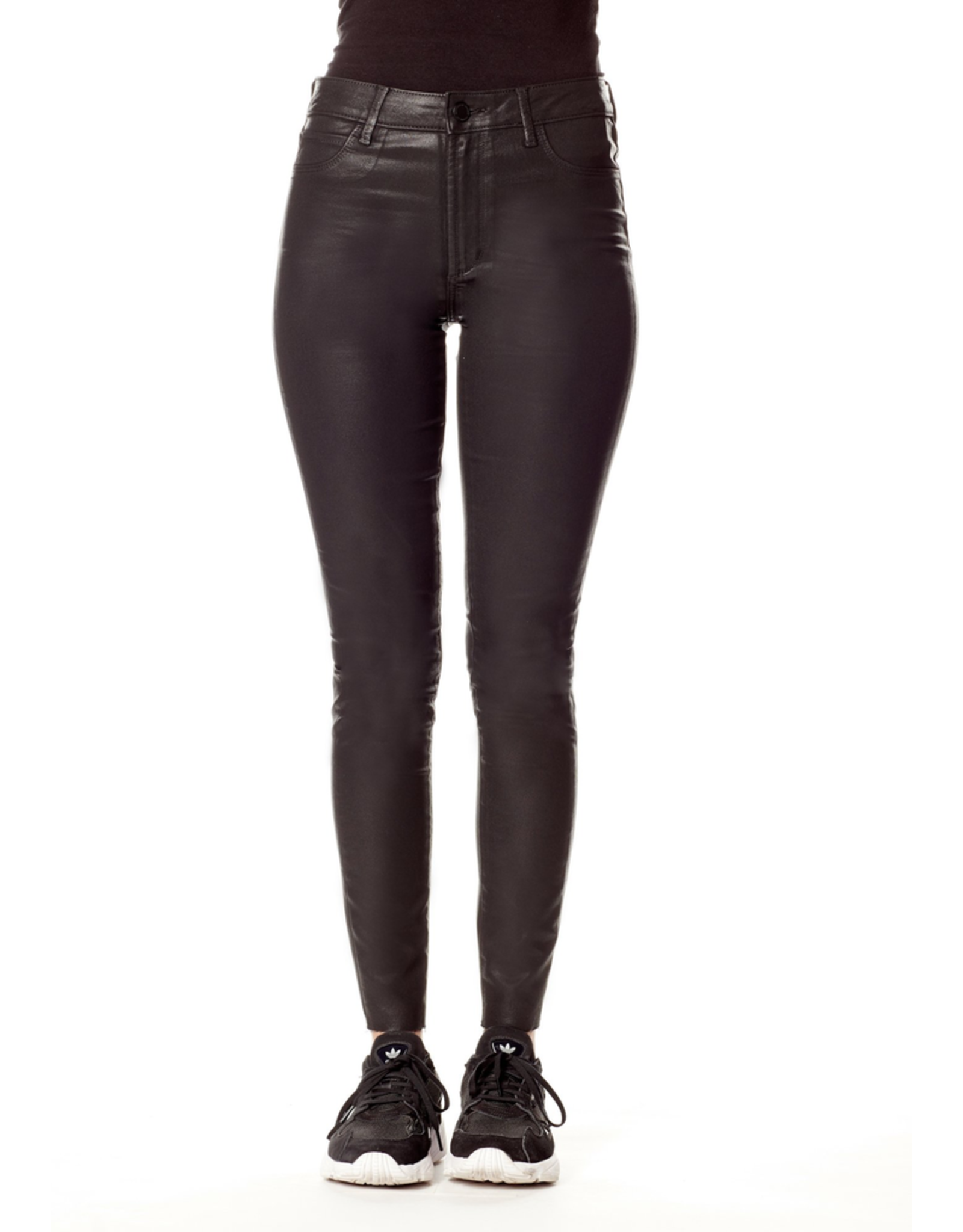 flight lux articles of society hilary wax coated high rise pants