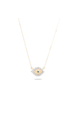 flight lux super tiny pave evil eye necklace