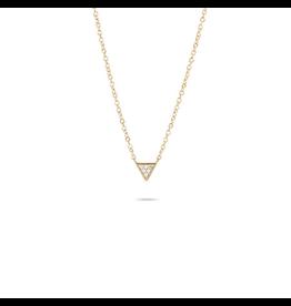 flight lux super tiny pave triangle necklace