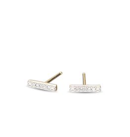 flight lux super tiny pave bar earrings