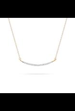 flight lux large pave curve necklace