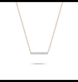 flight lux 14k gold bar necklace
