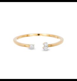 flight lux 2 diamond amigos ring 14k gold