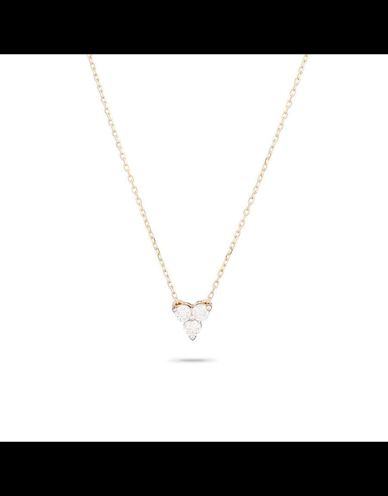 flight lux diamond cluster necklace