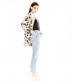 flight lux mina leopard cardigan