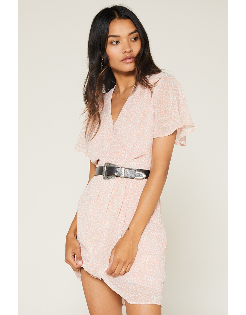 flight lux sage the label in this moment faux wrap dress