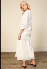 line & dot line + dot lia maxi dress