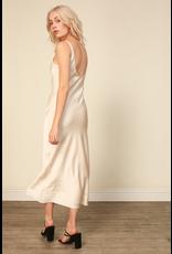 line & dot line + dot loulou satin dress