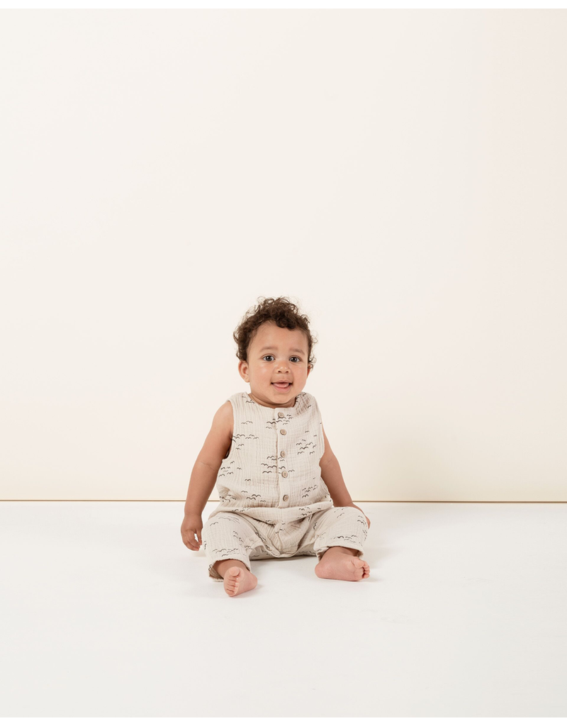 rylee cru rylee + cru flock button jumpsuit