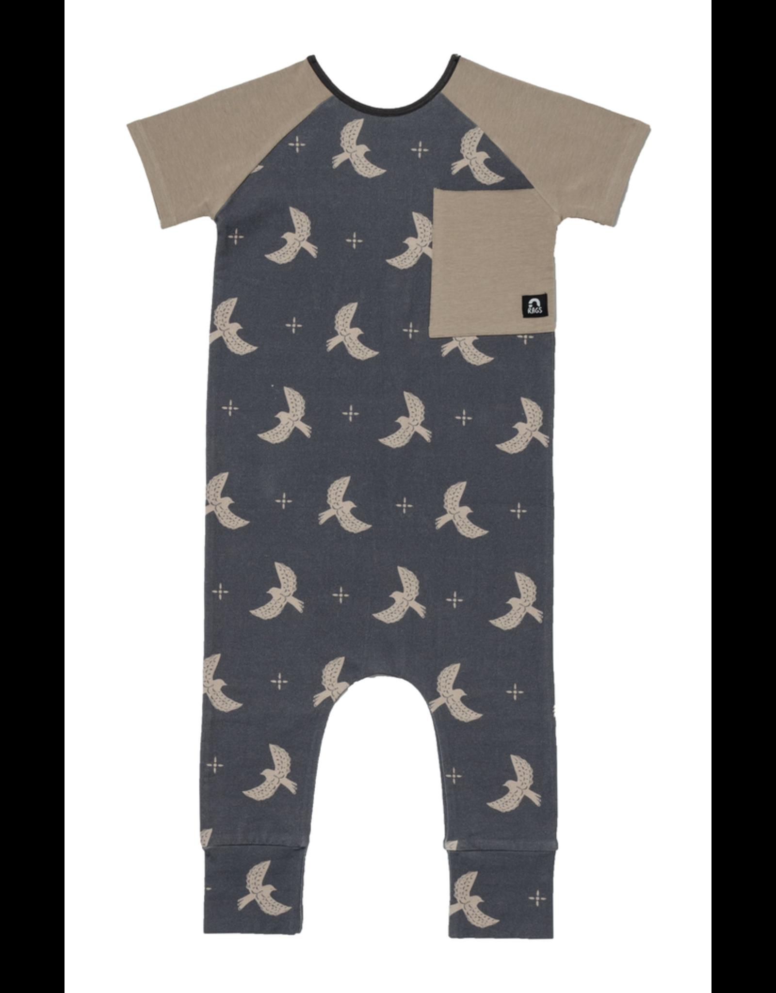 rags rags to raches short sleeve raglan birds