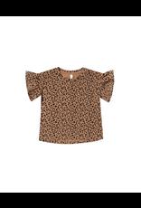 rylee cru rylee + cru cheetah flutter tee