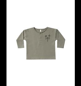 rylee cru rylee + cru palm tree henley sweatshirt