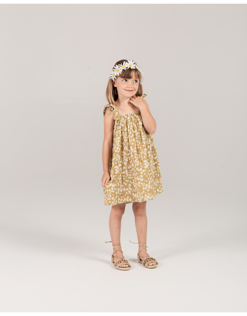 rylee cru rylee + cru scattered daisy shoulder tie dress