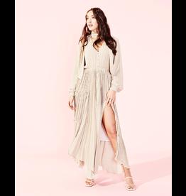 MinkPink minkpink pleated maxi dress