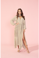 MinkPink minkpink pleated maxi dress