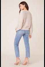 bb dakota bb dakota double rainbow button up sweater