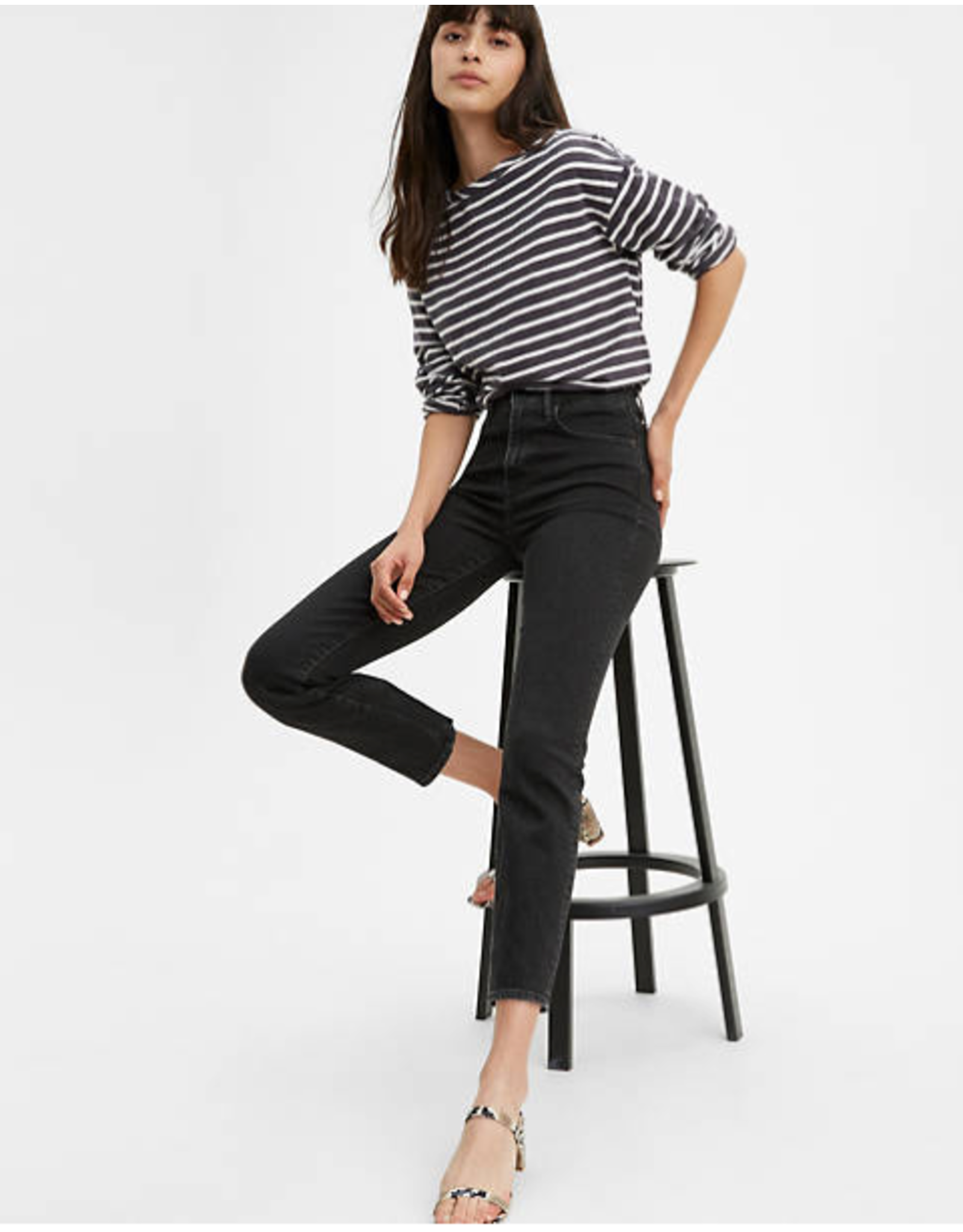 levi levi's 724 high rise straight crop jean