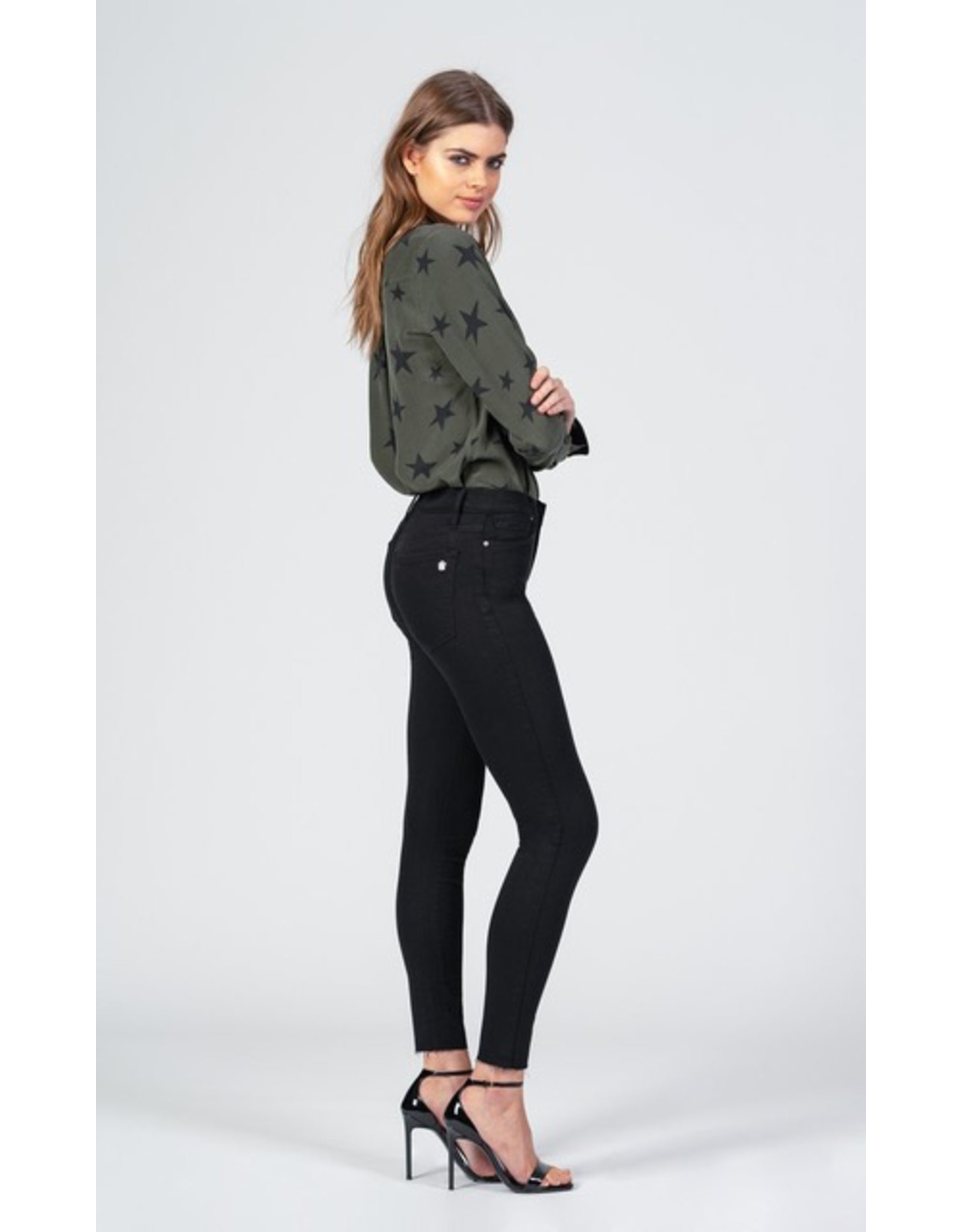 black orchid black orchid carmen high rise ankle fray