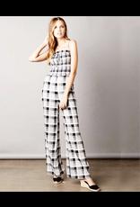 cotton candy gingham print jumpsuit