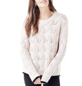 splendid splendid pointelle pullover sweater