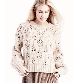 moon river oversize sweater top with balloon sleeves