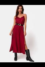 motel motel hime slip midi dress with double slit