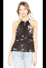 joie joie shawnette halter floral print top