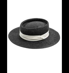 flight lux flight lux straw bolero hat black