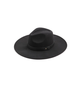 flight lux flight lux black fedora with grey faux leather trim