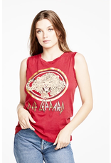 chaser chaser gauzy rolled seamed back muscle tee