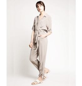 flight lux linen utility jumpsuit