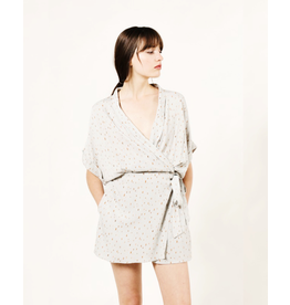 flight lux spotted cross front romper