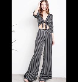 audrey stripe tie top/palazzo pant set