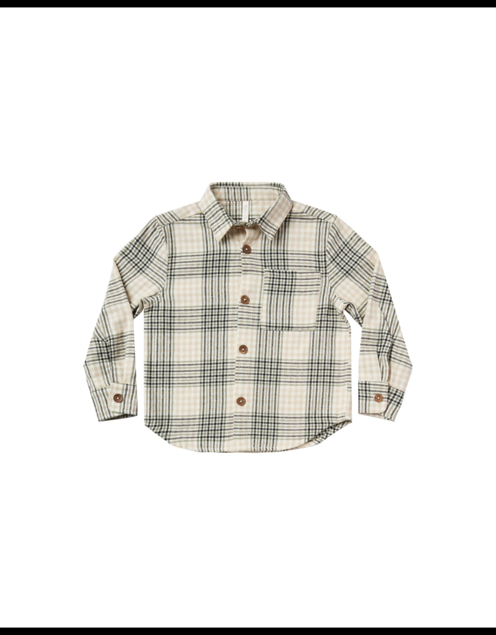rylee cru rylee + cru flannel collared shirt