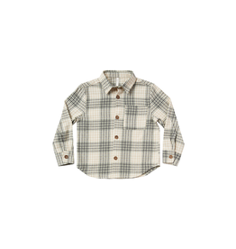 rylee cru rylee + cru flannel collared shirt