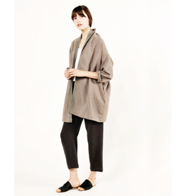 flight lux trim linen jacket