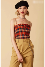 cotton candy plaid tube top