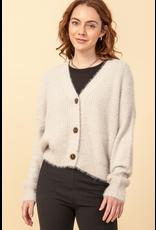 flight lux fuzzy cardigan sweater