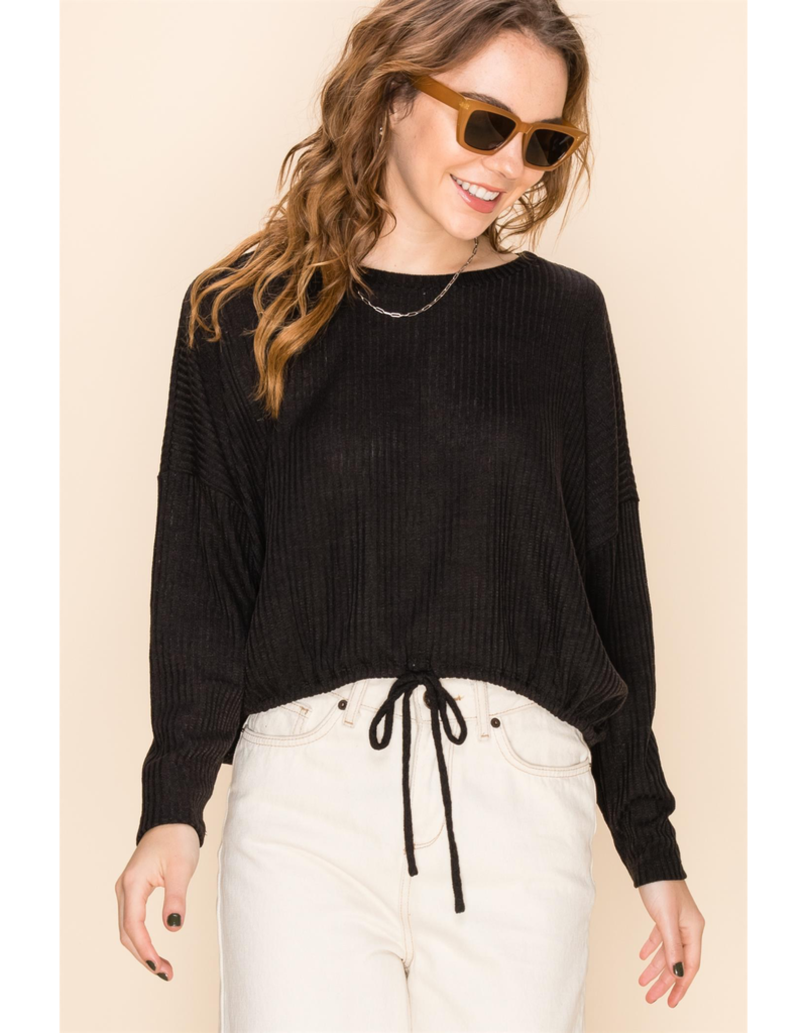flight lux drawstring bottom casual longsleeve