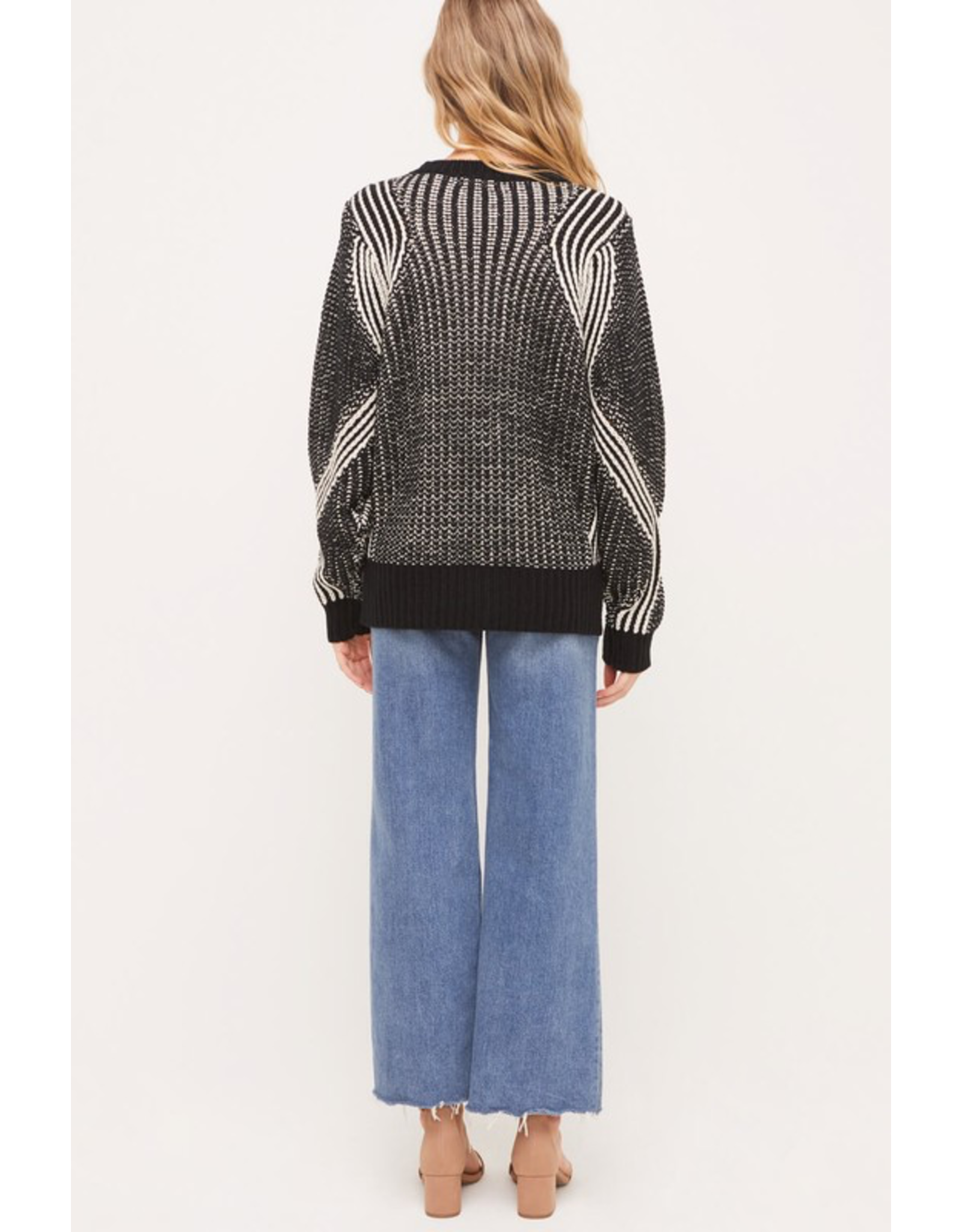 flight lux flight lux cable knit crew sweater