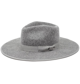 flight lux olive & pique flat bring wool fedora with piping brim detail