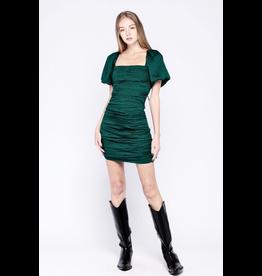 flight lux skylar + madison jq print short sleeve cross back mini dress