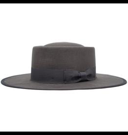 flight lux vida wool felt flat stiff bring gambler hat
